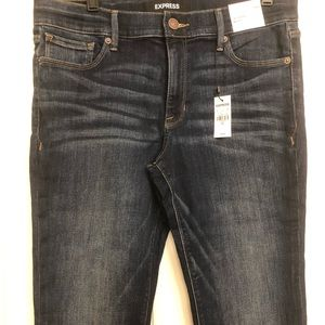 Express Skyscraper Mid Rose Jeans new with tags